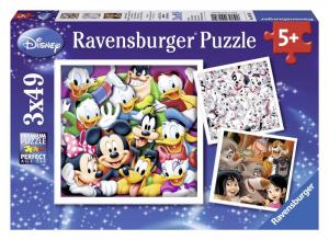 RAVENSBURGER Puzzle 3X49 Pezzi Classic Disney Puzzle Giocattolo 184