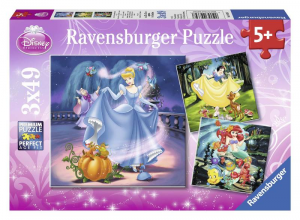 RAVENSBURGER Puzzle 3X49 Pezzi Principesse Disney A Puzzle Giocattolo 203
