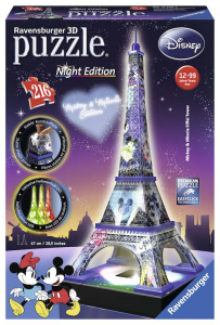 RAVENSBURGER Disney 3D Puzzle Eiffel Tower 3D Puzzle Night Edition Puzzeleball 261