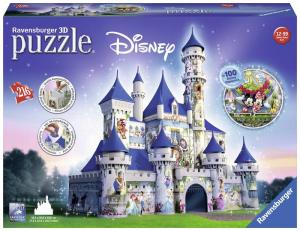 RAVENSBURGER Puzzle 3D Disney Fantasy Castle Puzzeleball 3D Puzzle Giocattolo 847
