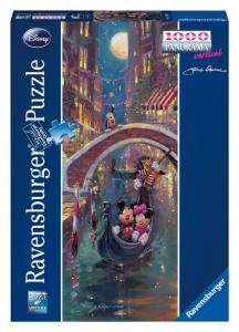 RAVENSBURGER Puzzle 1000 Pezzi Panorama Romantic Disney Serata Venezia Puzzle 636