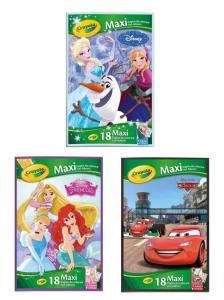 CRAYOLA Maxi Coloriage avec des autocollants Assortitote Disney Iva 6 Pvp relaxés 600