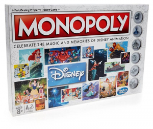 HASBRO Walt Disney Animation Monopoly Dama / Tria Chess Game Board 312