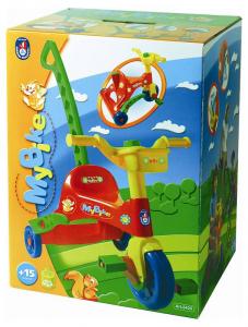 ANDRONI Triciclo In Plastica Con Pedali E Manico Triciclo Gioco Bambino Bambina 135