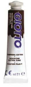 FILA Tube Tempera Giotto 21 ml Brown Dark Tempere Artistic Game Drawing 221