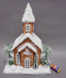 TABOR Church Brown Light / Mus27X17Cm Lights And Decorations Bright Christmas Gift 547