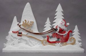 TABOR Pannello C/Babbo Slit 62X37Cm Decorazioni E Oggettistica Natale Regalo 183