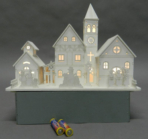 TABOR Paesbianc / Church 30x22 cm l Lights And Decorations Bright Christmas Gift 440