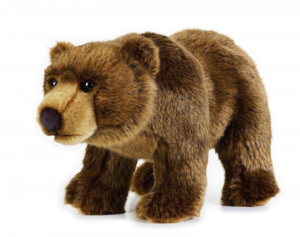 VENTURELLI Orso Grizzly Medio Ngs Animale Bosco Peluches Giocattolo 701