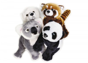 VENTURELLI Wild Pups Ngs Assortito 1 Ngs Animale Bosco Peluches Giocattolo 320
