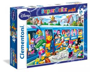 CLEMENTONI Puzzle Maxi 24 Disney Train Puzzle Maxi Pavimento Giocattolo 857