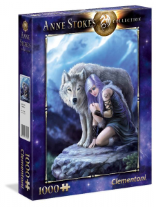CLEMENTONI Puzzle 1000 Anne Stokes Protector 224