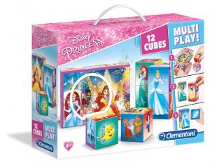 CLEMENTONI Cubi 12 Multi Play Princess Gioco Con Cubi Puzzle Giocattolo 730