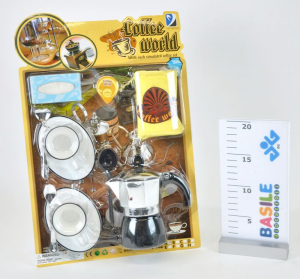 Blister 2 Cups And Coffee maker Kitchen Supermarket Game Female Bimba Child 588