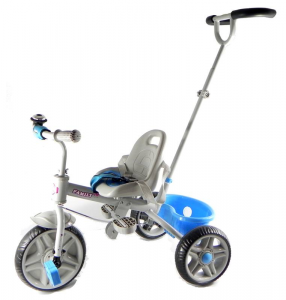 Tricycle Metal With Handle Steering Blue Tricycle Game Child Child 403
