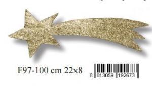 EUROMARCHI Stella Cometa Oro Con Glitter Accessori Presepe Natale Regalo 904