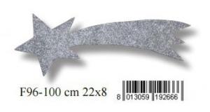 EUROMARCHI Stella Cometa Argento Con Glitter Accessori Presepe Natale Regalo 163