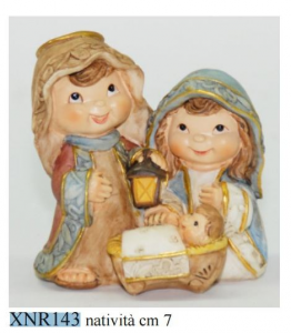 EUROMARCHI Nativity Cm 9X12 Resin Hut Nativity scene Christmas Gift 219