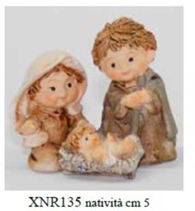 EUROMARCHI Nativita' Cm 5 Resina Presepe - Personaggi E Animali Natale Regalo 697