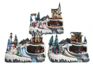 KAEMINGK Led Xmas Village 3 Assorted Indoor Theme: Led Christmas Fun With Movement 661
