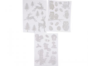 KAEMINGK Window Deco Snowy 3As 461737 Window stickers Tickets Stickers Christmas Gift 749