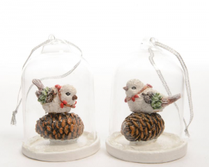 KAEMINGK Poly Bird With Glass 534554 Decorazioni E Oggettistica Natale Regalo 939
