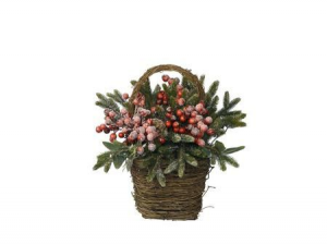 KAEMINGK Decorated Basket Berr 685145 Ghirlande E Frange Natale Regalo 610