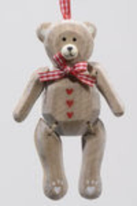 KAEMINGK Mdf Wood Bear C/Ganc 555802 Decorazioni E Oggettistica Natale Regalo 349