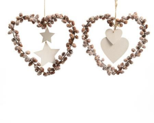 KAEMINGK Heart With clamps 30 cm 725517 Decorations And Objects Christmas Gift 702
