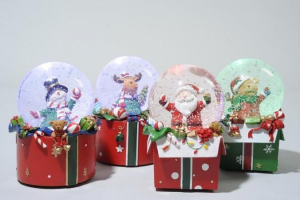 KAEMINGK Led Snow Globe 4 assorted B 481067 Lights And Decorations Bright Christmas Gift 558