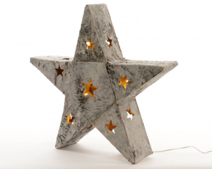 KAEMINGK Led Birch Bark Star I 483303 Lights And Decorations Bright Christmas Gift 975