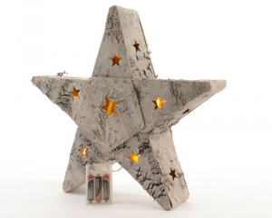 KAEMINGK Led Birch Bark Star I 483302 Lights And Decorations Bright Christmas Gift 911