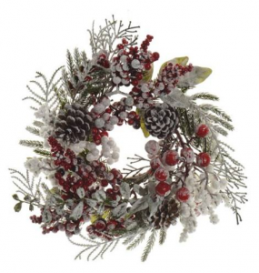 KAEMINGK Candlering Mix Berries Snow Garlands And Fringes Christmas Gift 111