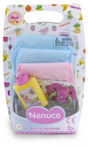 FAMOSA Nenuco Pannolini Colorati Set Accessori Bambolotto Gioco Femmina Bimba 516