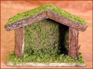 Hut Cm 18X8X13 Empty Nativity scene - Hut Empty Christmas Gift 188