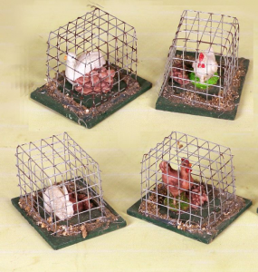 Cage With Courtyard Animals Form Assorted Accessories Nativity scene Christmas Gift 194