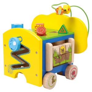 Elefante in legno Gioco per bambini x aiuto motricità