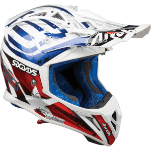 CASCO MOTO CROSS AIROH AVIATOR 2.3 AMS2 SIX DAYS 2019 CHROME GLOSS AV23SD18
