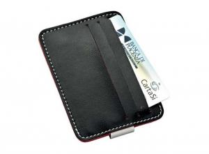Porta carte di credito fermasoldi cm.10,5x7,5x1h