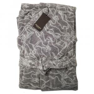 Trussardi accappatoio GREYHOUND spugna di puro cotone - grigio L/XL