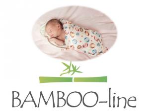 Bamboo-line -- telo multiuso--swaddle--100 % bamboo -- SWEET - 75 x 75