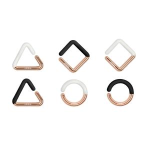 Set di segna bicchieri Geo Charms