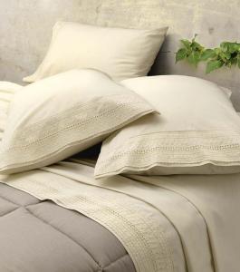 Set lenzuola matrimoniale 2 piazze Gabel ECO naturale puro cotone