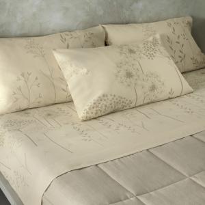 Set lenzuola matrimoniale Flanella Gabel in caldo cotone ACAI naturale