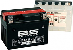 BATTERIA BS BTX4L-BS+ CON ACIDO AD ELEVATO SPUNTO PER MOTO SCOOTER  246610025