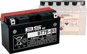 BATTERIA BS BT7B-BS CON ACIDO PER MOTO SCOOTER  246610155