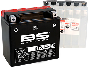 BATTERIA BS BTX14-BS CON ACIDO PER MOTO SCOOTER  246610135