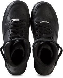 SNEAKERS NIKE AIR FORCE 1MID (GS) BLACK/BLACK 314195-004