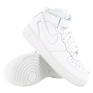 SNEAKERS NIKE AIR FORCE 1 MID (GS) WHITE/WHITE 314195-113