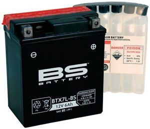 BATTERIA BS BTX7L-BS CON ACIDO PER MOTO SCOOTER  246610065